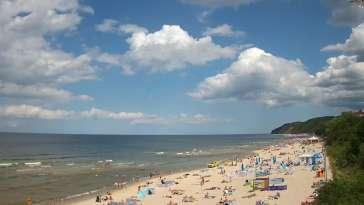 Kamera na plaże w Międzyzdrojach - cudowne zdjęcia.