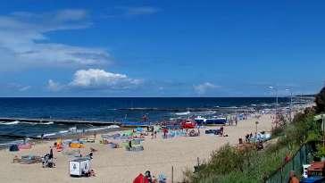 Widok na plażę w Niechorzu - NOWOŚĆ