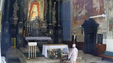 Ołtarz z parafii Matki Bożej Bolesnej w Jarosławiu
