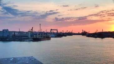 Widok na Port Morski w Gdyni