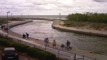Rowy - widok na port i morze