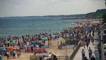Widok na Promenadę i Plażę w Sarbinowie