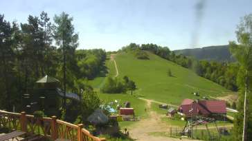 Widok z Kamery na stok narciarski Szczawnica Palenica