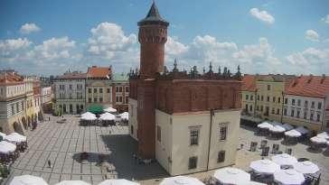 Obraz na centrum Starego Miasta w Tarnowie na żywo