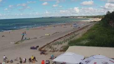 Obraz na żywo z plaży w Ustce, nadmorską promenadę i punkt widokowy