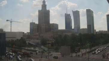 Obraz na Pałac Kultury i Nauki w Warszawie na żywo