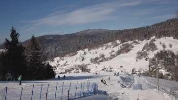 Widok z górnej stacji narciarskiej Wierchomla Toczek