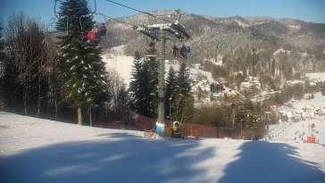 Widok na stację narciarską CIEŃKÓW-SKI.