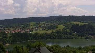 Widok na Jezioro Solińskie z wsi Wołkowyja