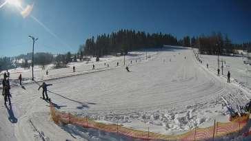 Widok na stację narciarską Zebra znajdującą się na Podhalu