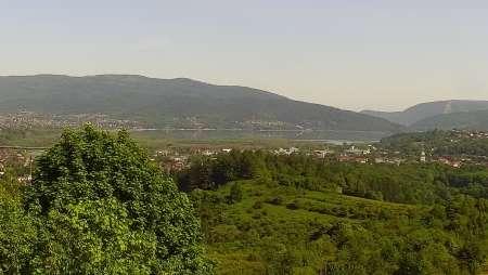 Widok z Kamery na panoramę Żywca i okolic.
