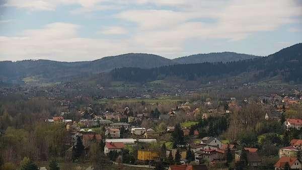 Widok na centrum miasta Andrychowa