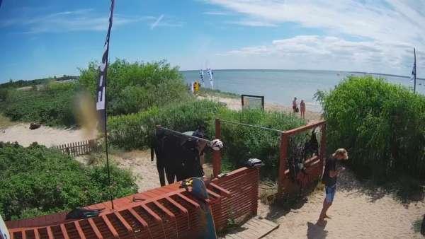 Widok z Kamery na Półwysep Helski Surf People