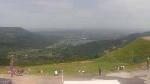Góra Żar - widok ze szczytu Beskidu Małego