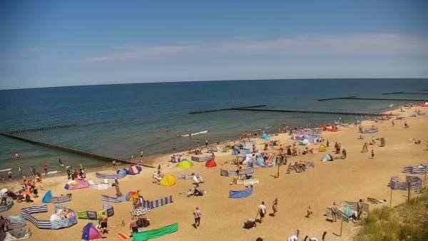 Kamera w Jarosławcu z widokiem na plażę