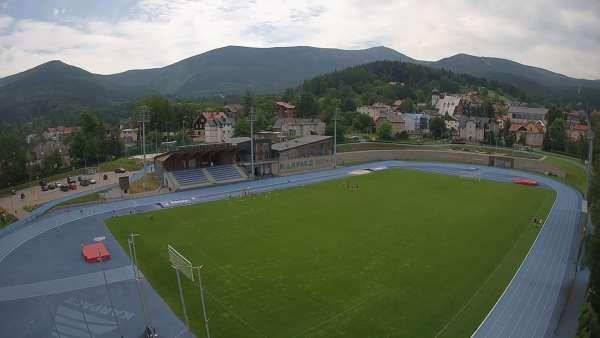 Widok z kamer na stadion Sportowy im. Ireny Szewińskiej