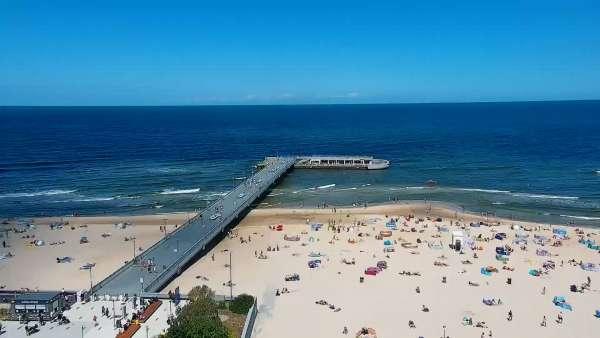 Obraz na żywo na Molo i Plażę w Kołobrzegu