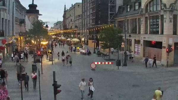 Widok na Ulicę Piotrkowską w Łodzi