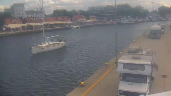 Widok na port w Mrzeżynie - live