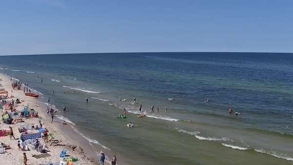 Widok na plaże w ROGOWIE