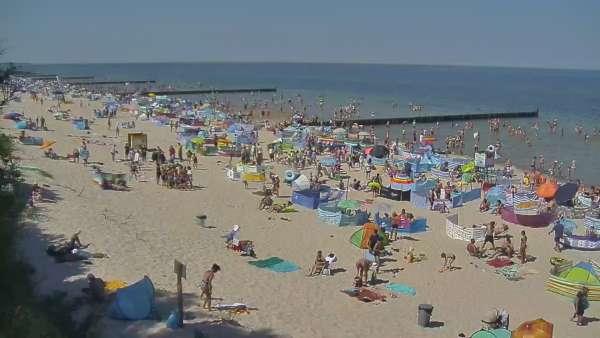 Kamera w Sianożętach na plażę.