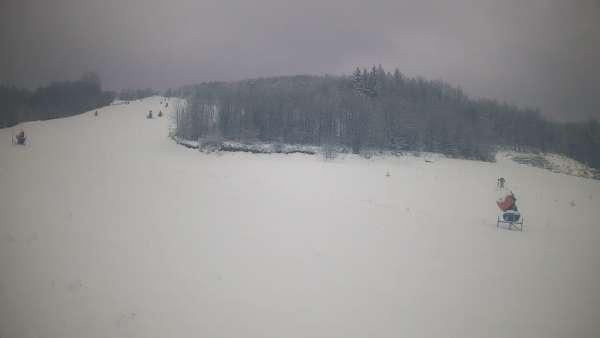 Warunki na stacji narciarskiej Szklana Góra w Harbutowicach.