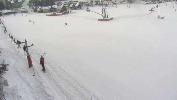 Widok ze stacji narciarskiej Koszałkowo w Wieżycy