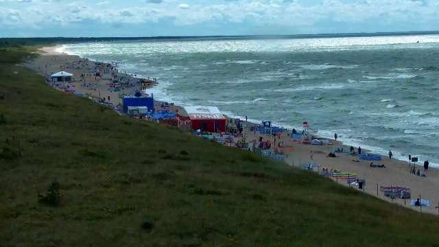 Zdjęcie z kamery Darłowo - widok na plażę