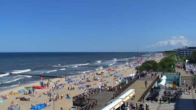 Zdjęcie z kamery MIELNO widok na plażę