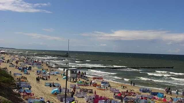 Zdjęcie z kamery Ustronie Morskie - widok na plażę