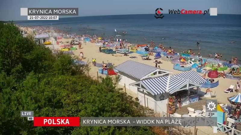 Widoki z kamer na 50 najpiękniejszych plaż w Polsce.