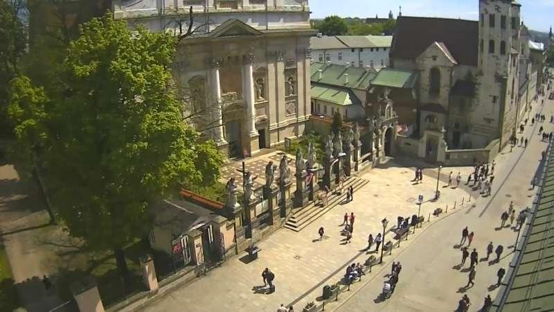Widok na ulicę Grodzką w Krakowie