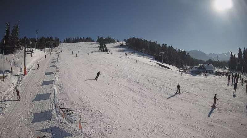Zdjęcie z kamery na stację Jurgów ski Hawrań