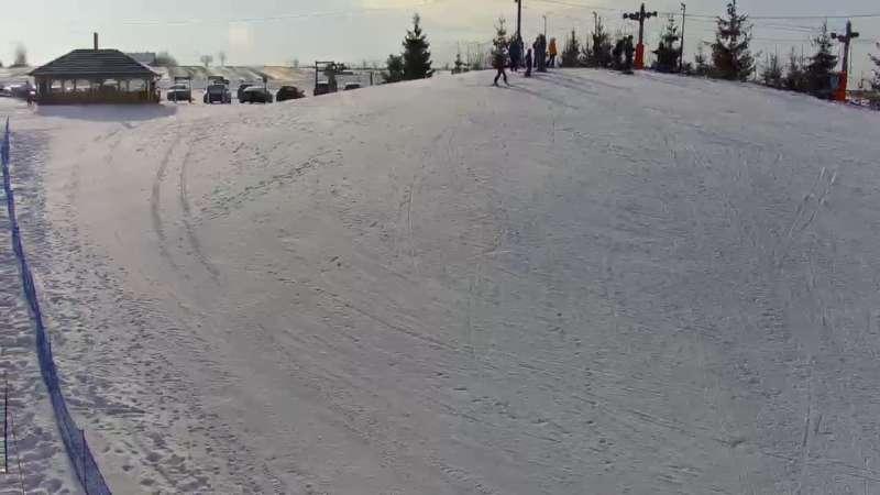 Widok na stację narciarską Kotlinka Szymbark