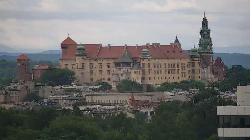 Widok na panoramę Krakowa - kamera obrotowa