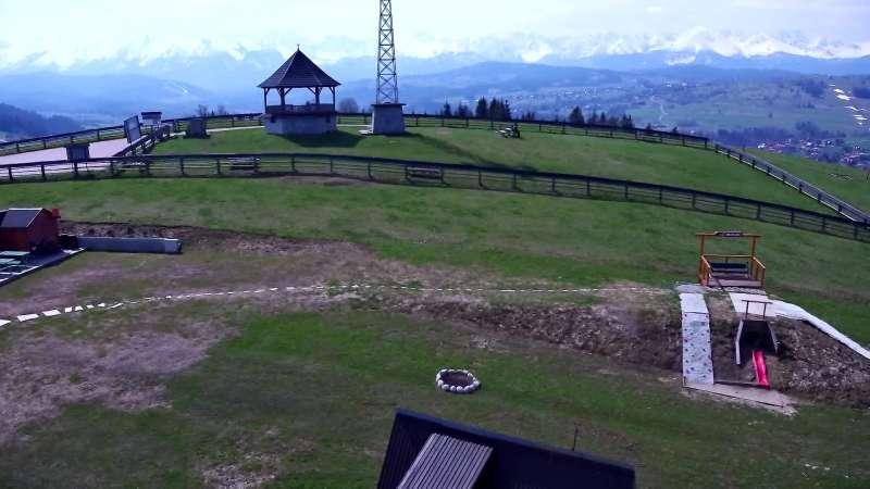 Widok panoramiczny na stok Grapa Litwinka Czarna Góra.