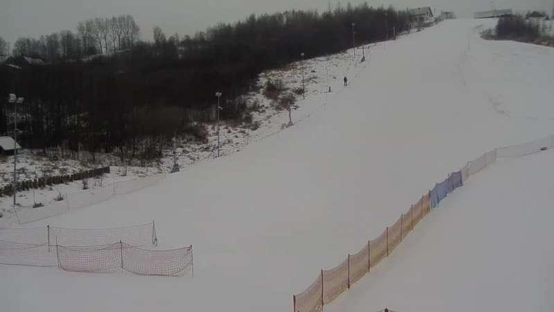 Widok na stok Podstolice SKI w Małopolsce.