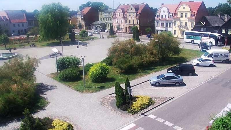 Obrotowa kamera HD w centrum Rakoniewic.