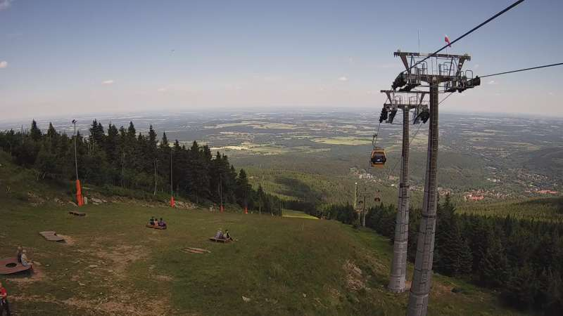 Widok na górną część stacji narciarskiej Ski&Sun.