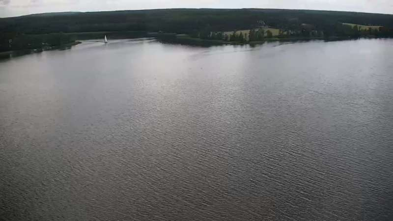 Widok na Jezioro Wdzydze na Kaszubach