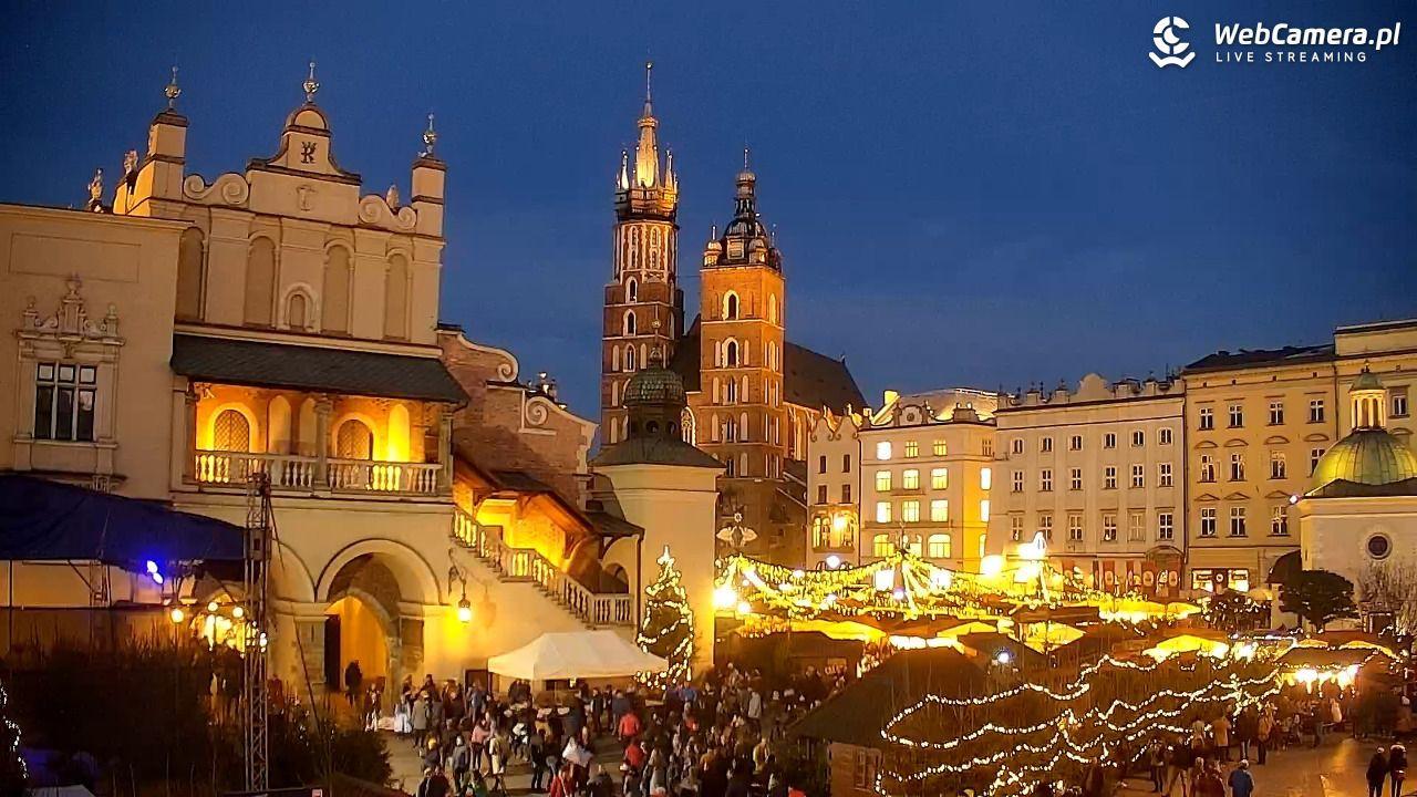 Widok na Jarmark Świąteczny w Krakowie