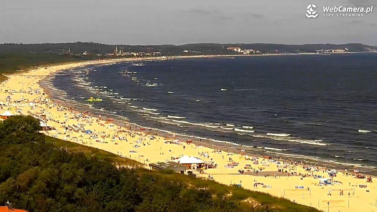 Zdjęcie z kamery na plażę - lipiec 2020 roku.