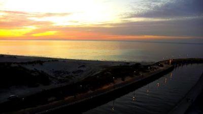 Zachód słońca z kamery w Łebie