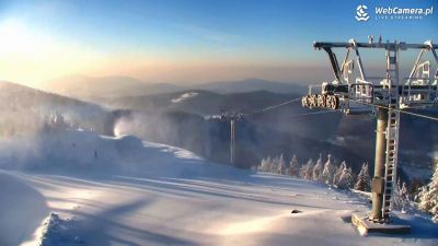 Widok z Kamery Szczyk Mountain Resort - Zbójnicka Kopa
