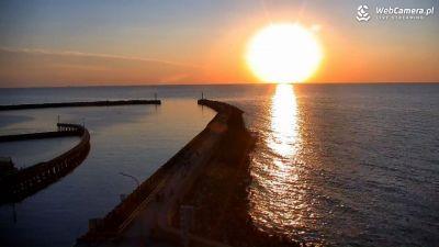 Zachód słońca w Darłówku