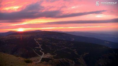 Widok z Kamery na Karkonosze