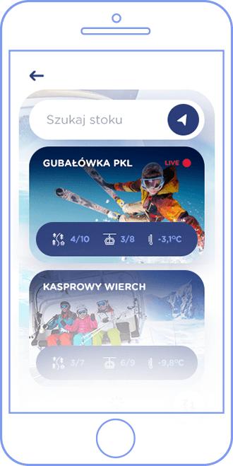 Lista ośrodków narciarskich w aplikacji WebCameraSki