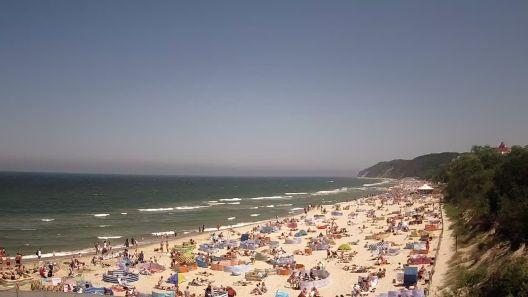 Co działo się w Międzyzdrojach w długi czerwcowy weekend ? Zobacz TimeLapse z plaży [film]