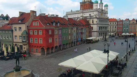 Widok z Kamery na Ulicę Stary Rynek w Poznaniu na żywo