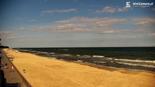 Film z plaży w Sarbinowie o poranku